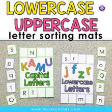 Load image into Gallery viewer, Lowercase and Uppercase Letter Sorting Mats [2 mats included] | Letter Activity