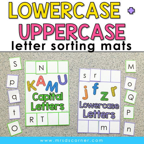 Lowercase and Uppercase Letter Sorting Mats [2 mats included] | Letter Activity