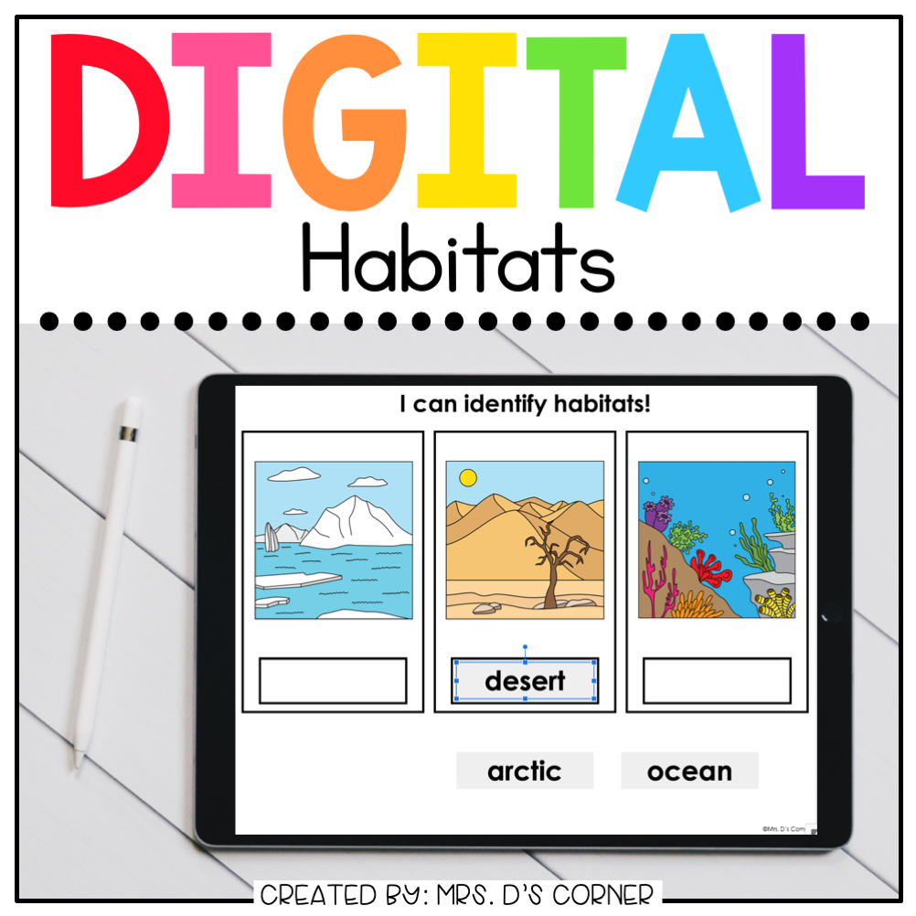 Habitats Digital Basics for Special Ed | Distance Learning