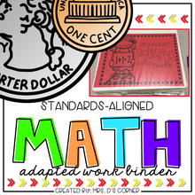 Load image into Gallery viewer, Math Adapted Work Binder® BUNDLE - Standards Aligned (for Special Needs)