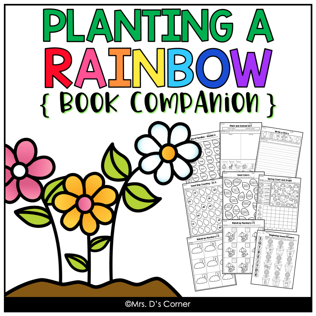 Planting a Rainbow Book Companion [ Craft, Writing Activity, and more! ]
