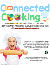 Load image into Gallery viewer, Connected Cooking Cupcakes Unit | Interactive Read Aloud, Visual Recipe + More!