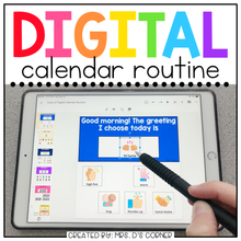 Load image into Gallery viewer, Digital Calendar Routine for Special Ed | Distance Learning Morning Meeting