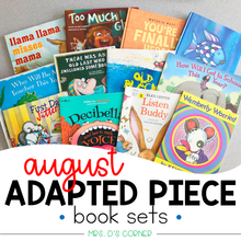 Load image into Gallery viewer, August Adapted Piece Book Set (12 book sets included!)