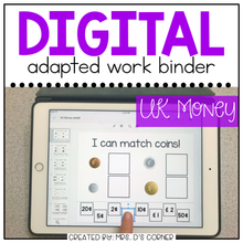 Load image into Gallery viewer, DIGITAL Adapted Work Binder ( UK British Currency )