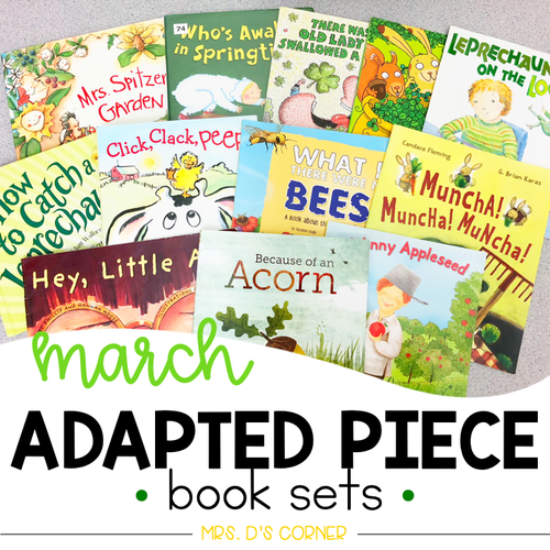 March Adapted Piece Book Set [12 book sets included!]