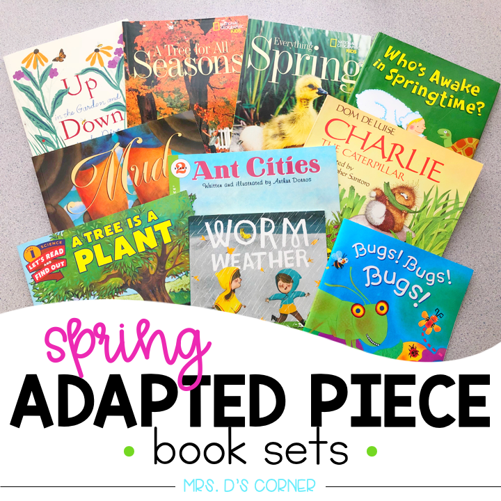 Spring Adapted Piece Book Set [ 10 book sets included! ]