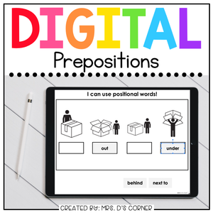 Prepositions + Direction Words Digital Basics for Special Ed | Distance Learning