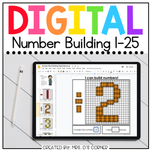 Digital Number Building Activity | 3 Number Activities