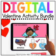 Load image into Gallery viewer, Valentine Digital Activity Bundle [15 digital activities] | Distance Learning