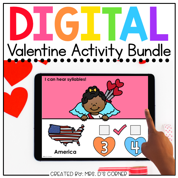 Valentine Digital Activity Bundle [15 digital activities] | Distance Learning