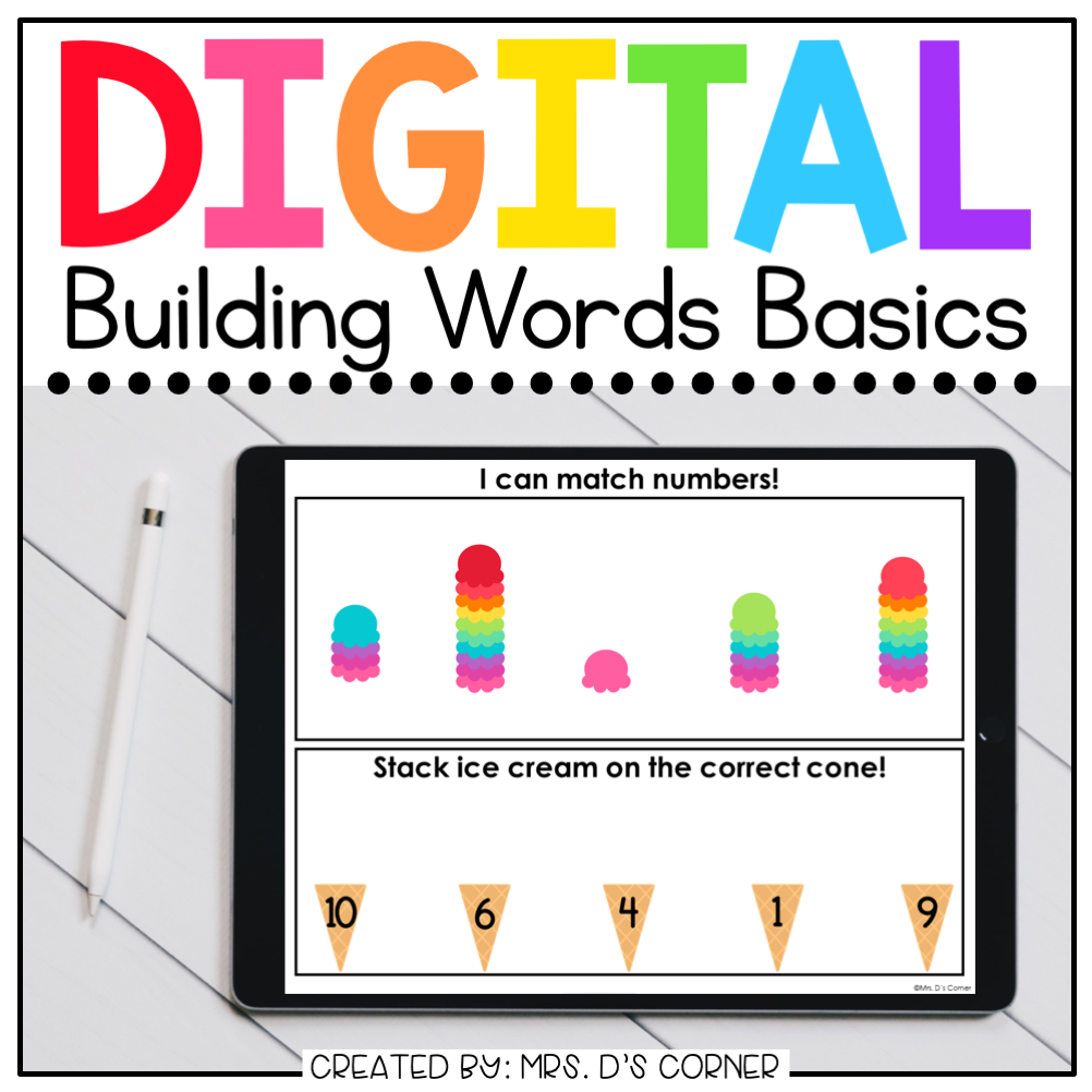 Counting + Number Recognition Digital Basics for Special Ed | Distance Learning