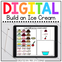 Load image into Gallery viewer, Digital Build an Ice Cream | Digital Activity for Special Ed + Distance Learning