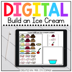 Digital Build an Ice Cream | Digital Activity for Special Ed + Distance Learning