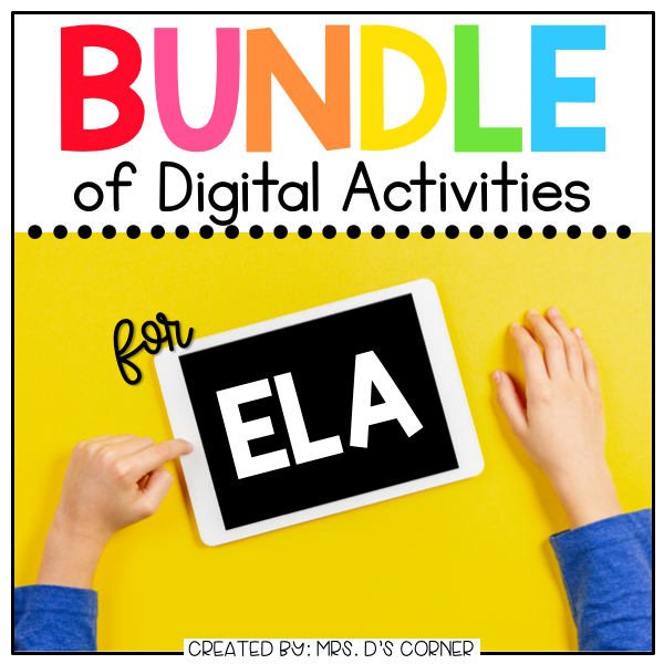 BUNDLE of English Language Arts Digital Activities | Distance Learning