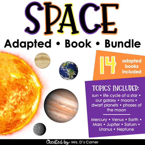 Solar System Adapted Book Bundle | Planet Adapted Books [Level 1 and 2]