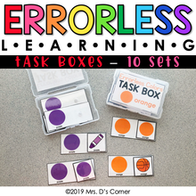 Load image into Gallery viewer, Errorless Learning Task Box (91 task boxes included!)