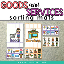 Load image into Gallery viewer, Goods and Services Activity Sorting Mats [2 mats included]