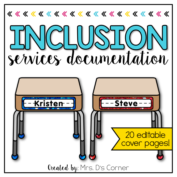 Editable Inclusion Documentation Forms | Editable IEP Service Time Forms