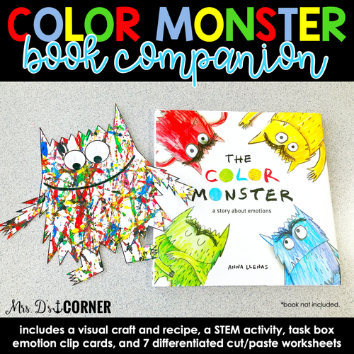 Color Monster Book Companion, Visual Craft and Recipe, and STEM Activity