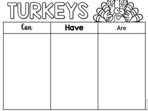 NO PREP Thanksgiving Activity Packet [13 activities]