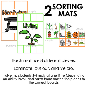 Living and Nonliving Sorting Mats [2 mats included] | Living Nonliving Activity