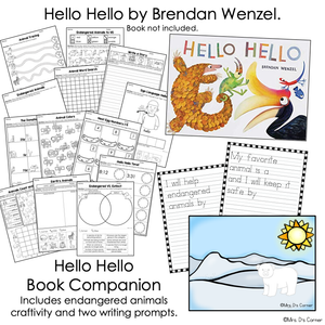 Hello Hello Book Companion, Craft, and Writing Activity