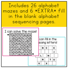 Load image into Gallery viewer, Fine Motor Skills Practice (Alphabet Mazes) | Distance Learning