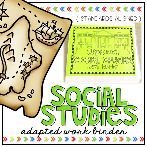 Social Studies Adapted Work Binder® - Grades K to 3