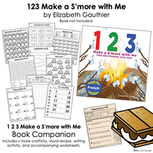 Load image into Gallery viewer, 123 Make a S'more with Me Book Companion [ Smore Recipe, Craft, Writing + More ]