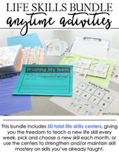 Load image into Gallery viewer, Anytime Activity Bundle | Life Skills Curriculum | Life Skills Centers Bundle