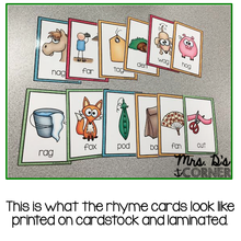 Load image into Gallery viewer, Word Family Rhyme Cards [Color and Black and White]
