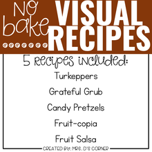 Load image into Gallery viewer, November Visual Recipes with REAL Pictures for Cooking in the Classroom