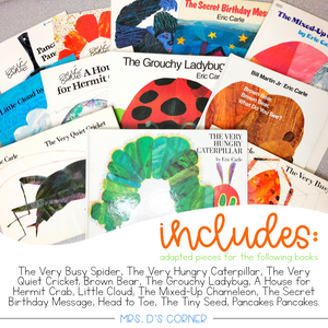 Eric Carle Adapted Piece Book Set [ 12 book sets included! ]