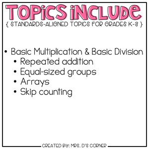 Multiplication and Division Adapted Work Binder®