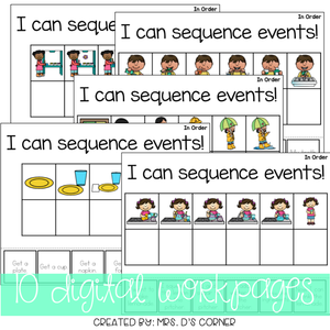 DIGITAL Adapted Work Binder ( Sequencing )