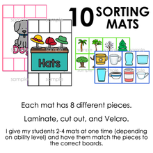 Load image into Gallery viewer, Non-identical Items Sorting Mats [ 10 mats! ] | Non-identical Sorting Activity