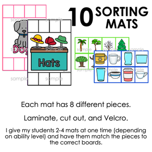 Non-identical Items Sorting Mats [ 10 mats! ] | Non-identical Sorting Activity