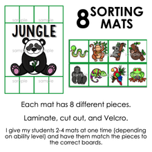 Load image into Gallery viewer, Animal Groups Sorting Mats [8 mats!] for Students with Special Needs