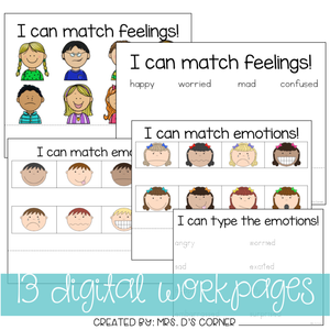DIGITAL Adapted Work Binder ( Emotions - Feelings )