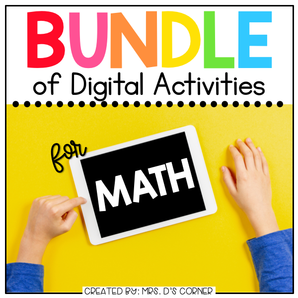 BUNDLE of Mathematics Digital Activities | Distance Learning