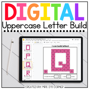 Digital Uppercase Letter Building Activity | 3 Alphabet Activities