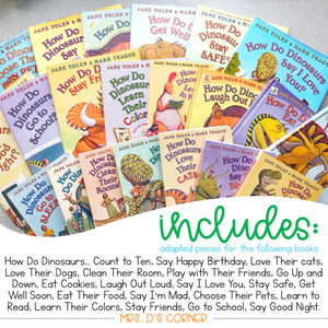How Do Dinosaurs... Adapted Piece Book Set [21 book sets included!] Jane Yolen
