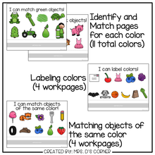 Load image into Gallery viewer, Colors Adapted Work Binder® ( 9 different sets of workpages )