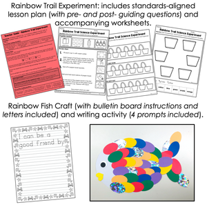 Rainbow Fish Book Companion [ Craft, Experiment, Writing and more! ]