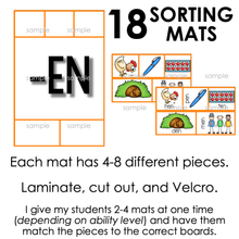 Load image into Gallery viewer, Word Families Sorting Mats [18 mats!] for Students with Special Needs