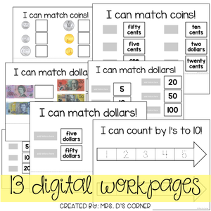 DIGITAL Adapted Work Binder ( Australian Currency )