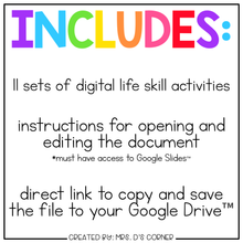 Load image into Gallery viewer, Life Skills Digital Basics for Special Ed | Distance Learning