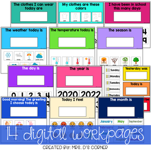 Digital Calendar Routine for Special Ed | Distance Learning Morning Meeting