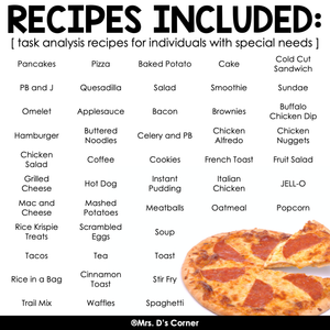 Functional Cooking Recipes for Cooking in the Classroom | Recipes for Kids